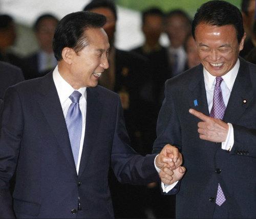 麻生首相とあきひろ大統領