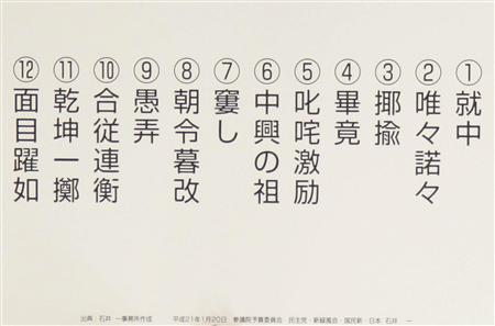 漢字テストの内容